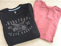 Boys (4-5 years) Firetrap Sweatshirt and T-Shirt