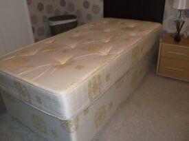 single bed 3ft divan with headboard