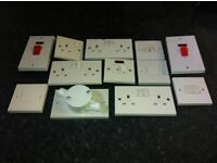 Electrical sockets & switches JOBLOT SECONDHAND