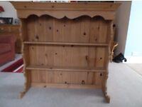 Pine Welsh Dresser Top - 2 Shelves