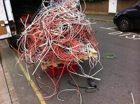 SCRAP METAL CABLE BOUGHT AND COLLECTED WASTE CLEARANCE SERVICE LEAD COPPER BRASS CABLE
