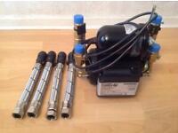 Stuart turner monsoon shower pump 2.0 bar universal twin impeller-46480 negative head