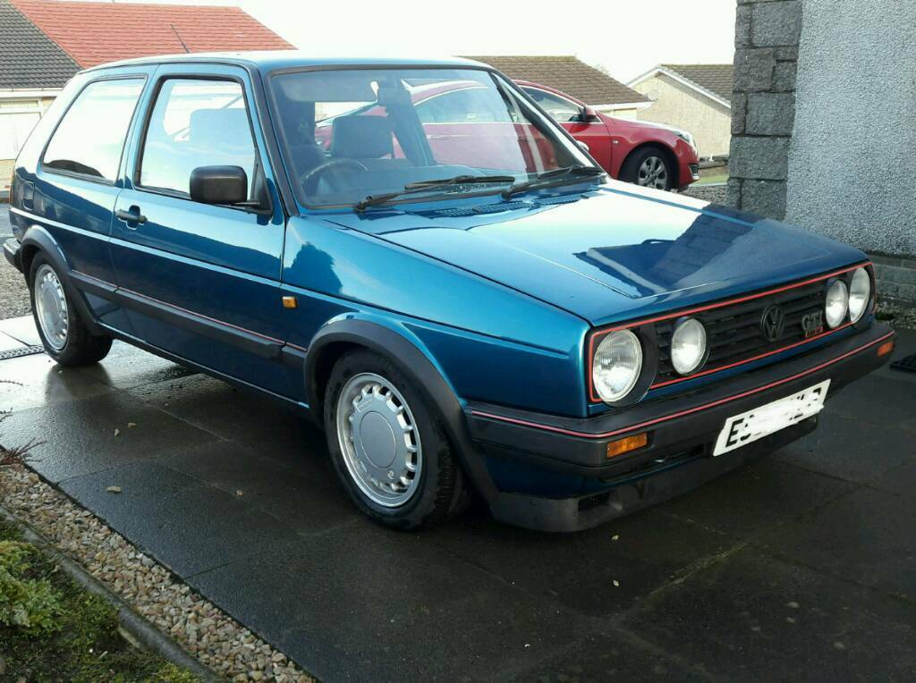 1988 vw mk2 golf gti 16v 3 door monza blue in. Black Bedroom Furniture Sets. Home Design Ideas