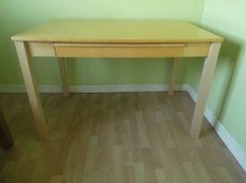 wooden desk beech effect