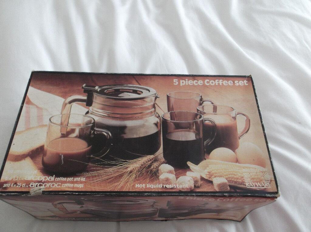 5 piece vintage coffee set.