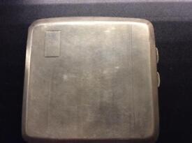 Silver cigarette case, fully hallmarked,