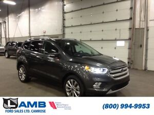 2018 Ford Escape Titanium 4WD with Vista Roof, Auto Start/Stop a