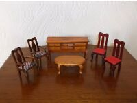 17 Items of dolls house furniture