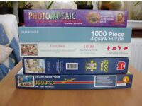 VARIOUS 1000 and 1500 PIECE JIGSAW PUZZLES. ALL COMPLETE