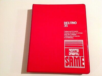 Same Delfino 35 Special Tractor Parts Catalog