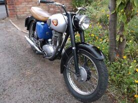 Vintage BSA C15 250cc 1964 Motorcycle restored to good standard, Orig. buff Logbook