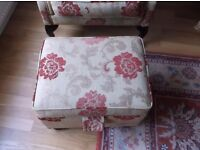 Queen Anne Chair with footstool