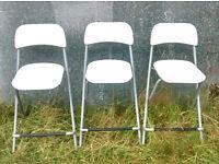 3 white IKEA bar stools