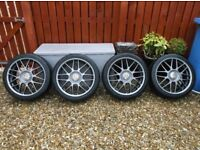 """VW Golf Anniversary BBS RC's 18"""" with 225/40 Tyres in 7.5"""" + 8.0"""" Wide- Graphite. Audi, Seat, Skoda"""