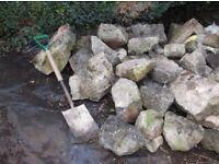 Stone walling / Rockery Stones