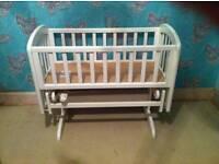 White John Lewis Wooden Crib