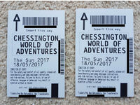 Chessington Tickets x2 - Thu 18 May 2017