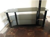 "black and chrome tv stand for 39"" - 52"" suitable"