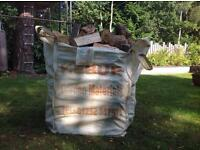 Large bulk builders bag of seasoned hardwood logs