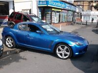 55 MAZDA RX 8 4 DR COUPE 231PS 6 SPEED MANUAL LOTS SPENT NO PROBS £1695