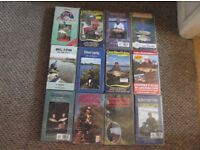12 assorted coarse and carp fishing videos