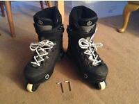 Inline aggressive anarchy skates