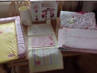 Mothercare rosebud cot/cotbed set