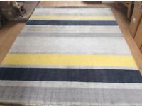 John Lewis scandi rug, multistripe, lightly used , RRP £380