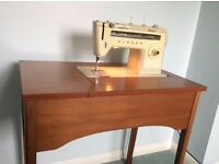 TEAK Sewing Machine Cabinet