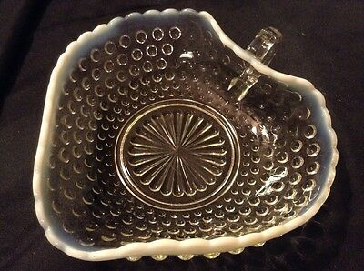 Fenton Hobnail Opalescent Glass Candy Dish Vintage Collectible Fenton