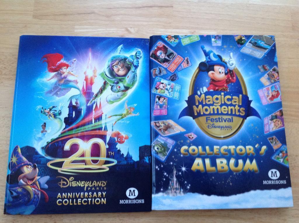 Disneyland Paris bundle of collectable cards 2 folders full.