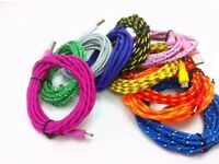 Wholesale Job Lot Bulk Buy x100 Nylon Braided Micro USB Cables Coloured GREAT FOR RESALE