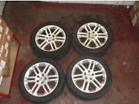 vauxhall zafira 4x alloy wheels inc tyre may px ask