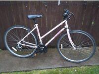 Giant ladies pink mountain bike hybrid cycle 19 inch low step through frame