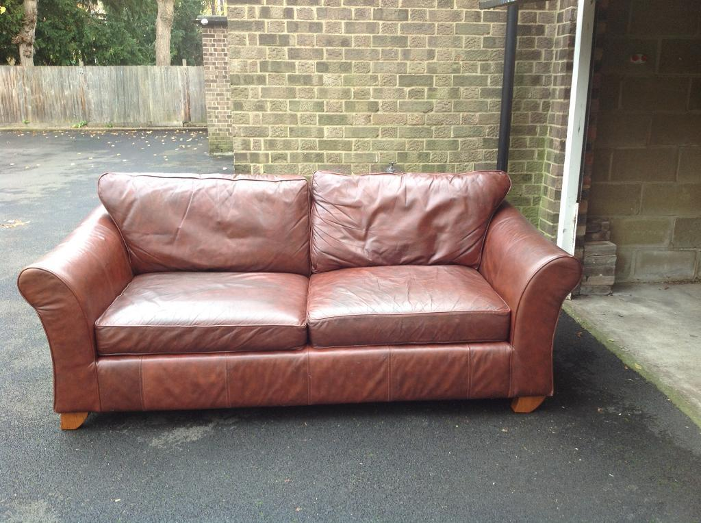 Real Leather Sofa £150!