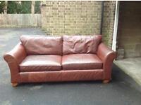 Real Leather Sofa £150!