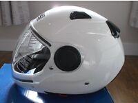 AGV / MDS Sunjet White Motorbike Helmet Size Large Brand New in Box - Full Warranty.