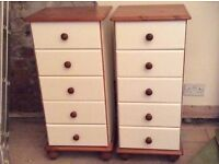 Solid Pine 5 Drawer Cabinets x 2 £50 for Both