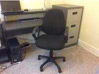 Office Desk Filing Cabinet and Chair
