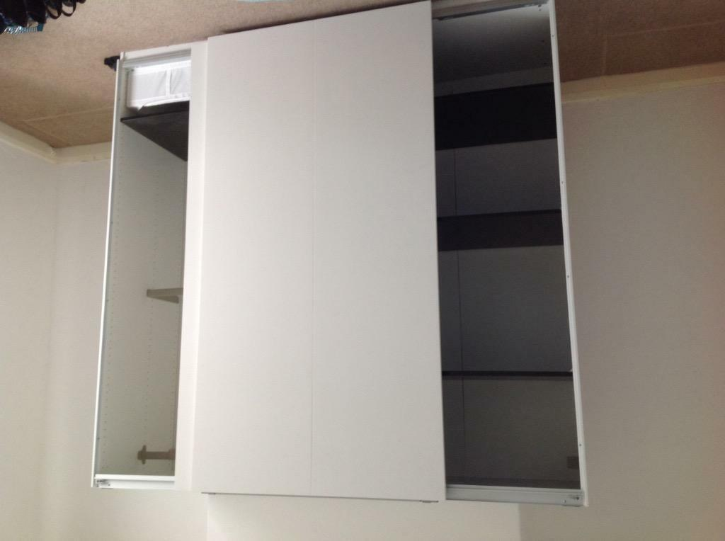 White wardrobe 2 sliding doors in chester le street for Sliding glass doors gumtree