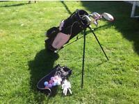Junior golf clubs & bag