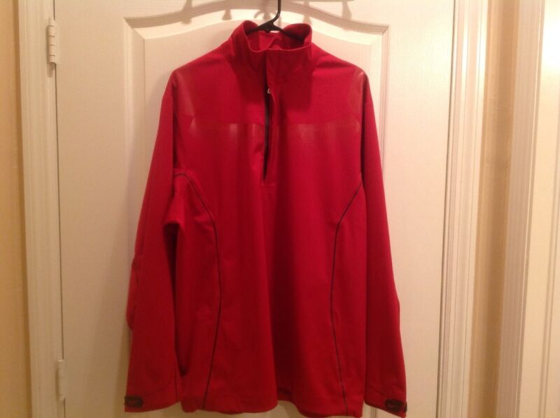 🌧 🧥 BNWT $260 RARE RED LARGE NIKE GOLF STORM FIT WATERPROOF JACKET SHELL