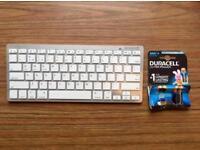 wireless bluetooth keyboard (white/silver)