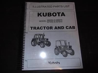 Kubota M6950-s M7950-s M6970 M7950 Tractor And Cab Parts Catalog Manual