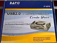 BAFO BF-6010 - USB 2.0 32GB 2.5 HDD Enclosure - Combi Drive