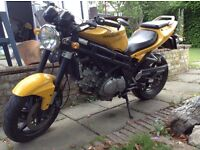 Hyosung GT650 Comet, low mileage but ignition prob. May swap or p/x for a smaller bike.