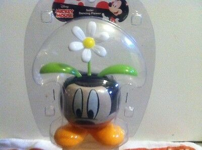 Solar Dancing Mickey Mouse Pot W/White Daisy](Dancing Mickey)
