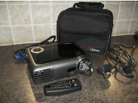 Optoma EX330 DLP Projector with Leads Carry Case and Remote