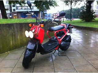 HONDA ZOOMER RED LOW MILEAGE FULL SERVICE JUST DONE MOT & TAX £1395