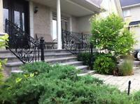 Balusters and Wrought Iron Railings